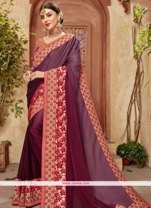 Designer Multi Color Function Wear Georgette Chiffon Saree