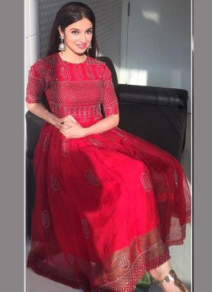 Divya Khosla Red Festive Wear Gown