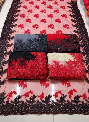 Diwali Special New Designer Fashion Collection Naylon Mono Net Saree