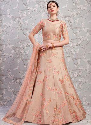 Elegant Collection Banglori Silk Light Brown Designer Lehenga Choli