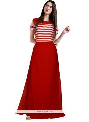 Ethnicmode Designer G 97 Avni Red Western Gown
