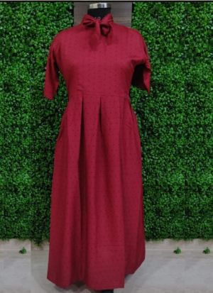 Everyday Wear Causal Maroon Heavy Crepe Kurti For Women