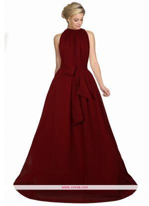 Exclusive Designer G 70 Dyna Maroon Long Gown