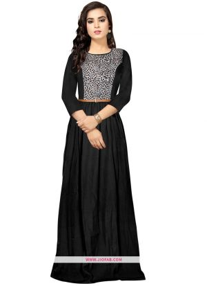 Exclusive Designer G 98 Zorba Black Long Gown