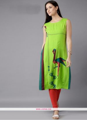 Exclusive Designer Heavy Parrot Crepe Digital Printed Kurti