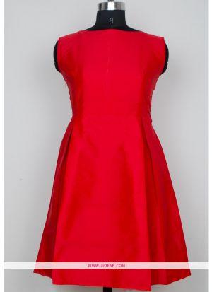 Exclusive Designer Red Color Short Dress