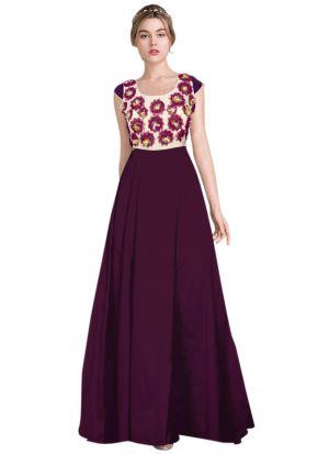 Exclusive Designer Wine Gown