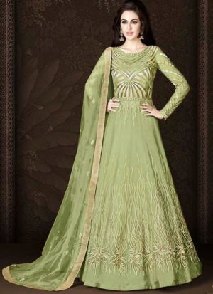 Fancy Summer Designer Parrot Heavy Net Salwar Suit