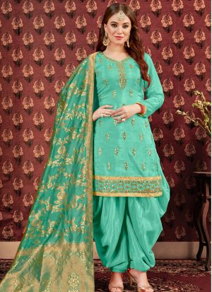 Festive Special Parrot Designer Patiala Suit