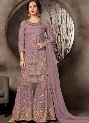 Festive Special Powder Pink Designer Sharara Suit