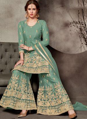 Festive Special Rama Designer Sharara Suit