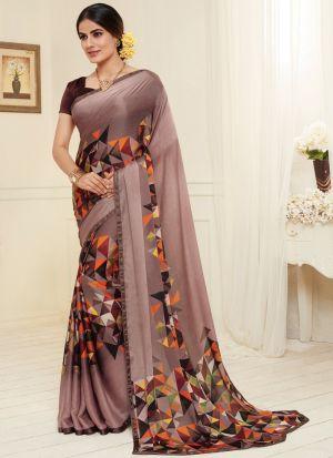 Festive Wear Multi Color Stylish Satin Georgette Saree