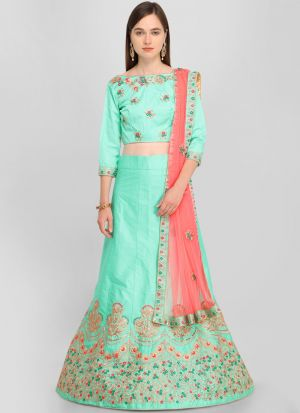 Firozi Designer Lehenga Choli For Wedding