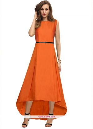 G 78 Nitya Orange New Designer Western Gowns For Women