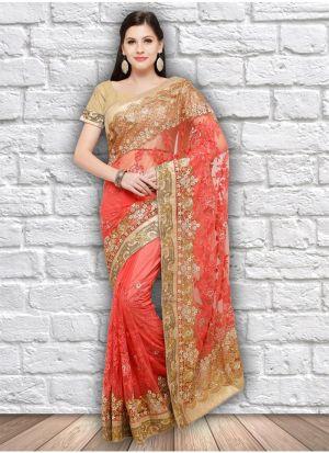 Gajari Net Stylish Designer Party Wear Fancy Saree
