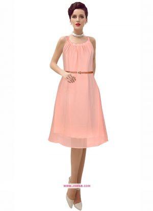 Georgette Western Wear Dress In Peach Color