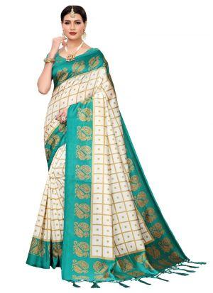 Green Art Silk Festival Trendy Saree