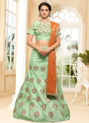 Green Designer Exclusive Bridal Lehenga Choli