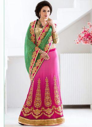 Green Georgette Stylish Designer Party Wear Fancy Saree