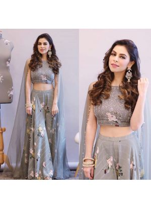 Grey Cotton Silk Traditional Hit Design Lehenga Choli