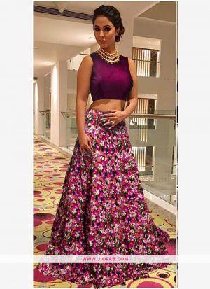 Heavy Bangalory Silk Pink Partwear Lehenga