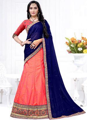 Indian Designer Milano Gajari Lehenga Choli For Bridesmaid