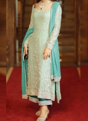 Indian Party Wear Sea Green Salwar Suit