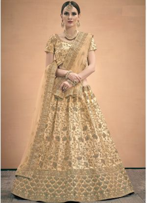 Indian Traditional Beige Designer Lehenga Choli