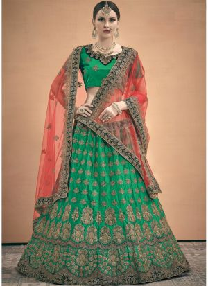 Indian Traditional Green Designer Lehenga Choli