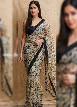 Katrina Kaif Digital Printed Replica Saree