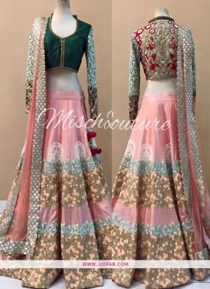 KT 2049 Hand Work Bangalore Silk Party Lehenga Choli