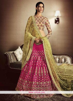 KT 2079 Pink Party Multy Work Wedding Lehenga Choli