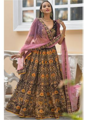 Latest Arrival Wine 9000 Velvet Heavy Designer Lehenga Choli