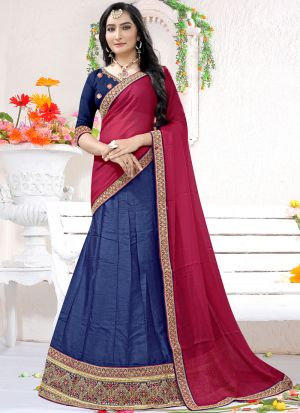 Latest Blue Milano Designer Lehenga Choli