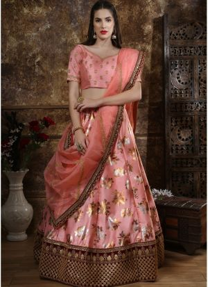 Latest Collection Pink Colour Party Wear Designer Lehenga Choli