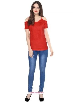 Latest Fashion Tipsy Red T Shirt For Girl
