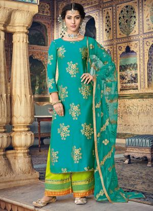 Latest Launch Chanderi Rama Straight Suit For Party