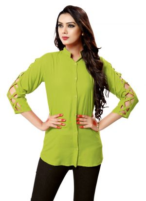 Light Green Color Ladies Casual Shirt