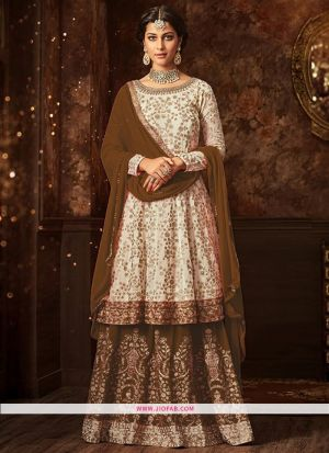 Maisha 5807 Coffee Georgette Embroidered Festive Salwar Suit