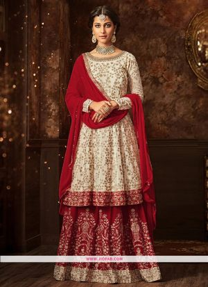 Maisha 5807 Red Georgette Embroidered Partywear Salwar Suit