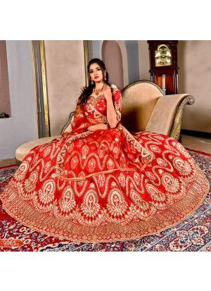 Maroon Chennai Silk Designer Bridal Lehenga Choli