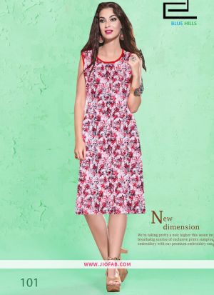 Maroon Cotton Fabric Stitched Summer Kurti Collection