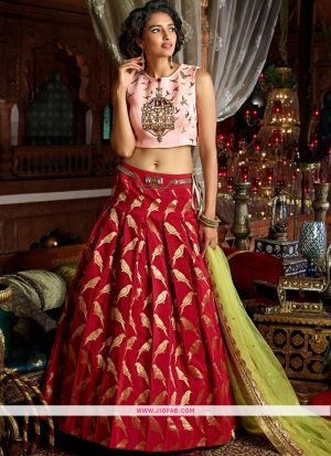 Maroon Hand Work Banglori Silk Designer Gown Collection