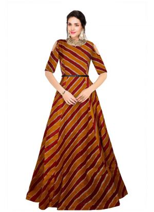 Maroon Maxi Dress For Women