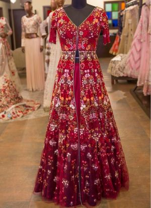Maroon New Hit Design Lehenga Choli Collection