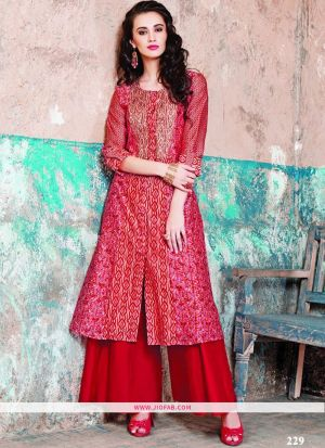Maslin Cotton Pink Color Designer Traditional Gown Collection