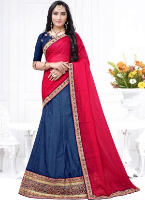 Milano Blue Wedding Designer Lehenga Choli