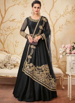 Most Demanded Black Floor Length Anarkali Suit For Wedding