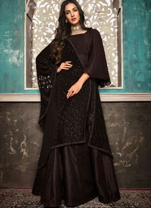 Most Demanded Ceremony Wear Brown Gown Style Anarkali Suit