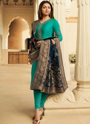 Most Demanded Sea Green Churidar Suit For Bridesmaids